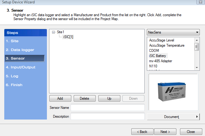 Adding a sensor to a data logger