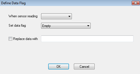 Define Data Flag window