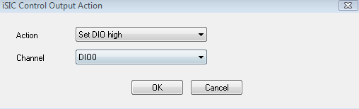 iSIC Control Output Condition Window