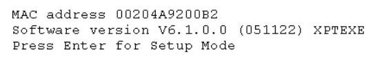 5100 Terminal Message