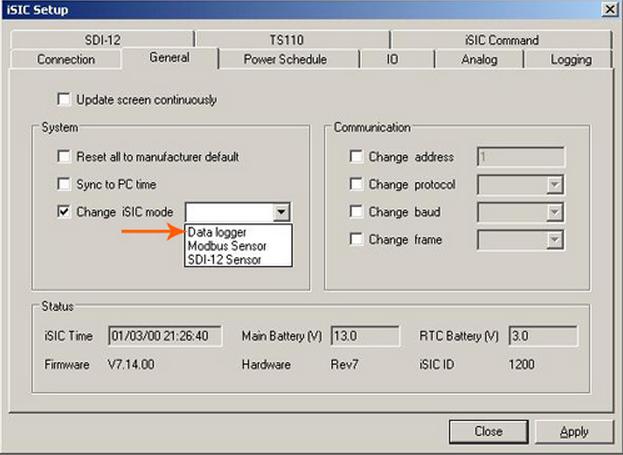 Change iSIC mode