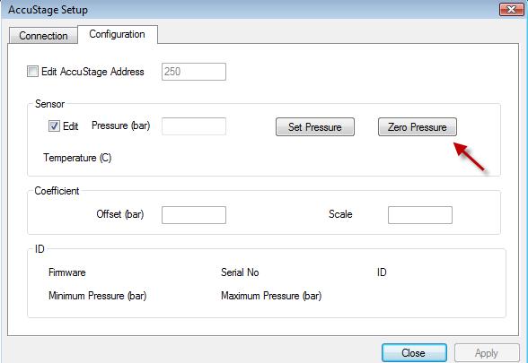 Configuration Tab AccuStage