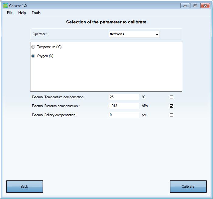 calibrate and configure a ponsel sensor nexsens nexsens