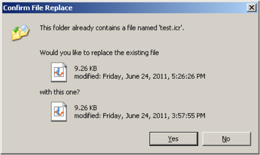 Paste icr File