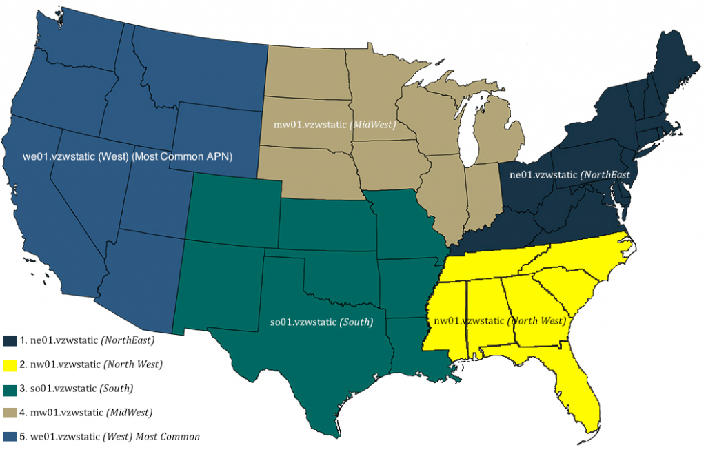 Figure 3: Verizon Regional APN Map