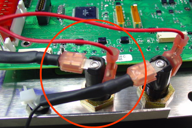 Connect fastons from MS2 to bottom fuse holder