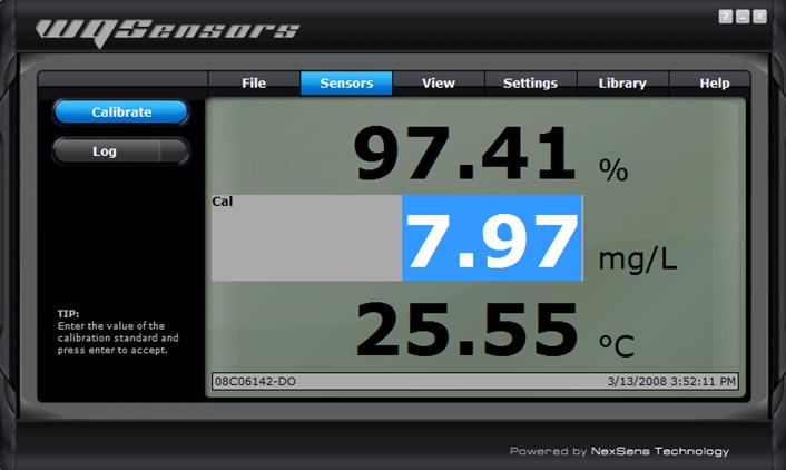 calibrate sensor readings