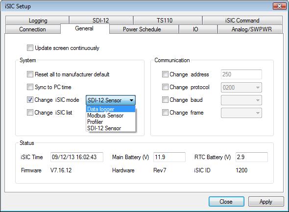 change 0200 sdi-12 controller to data logger mode