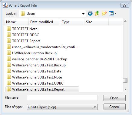locate report folder