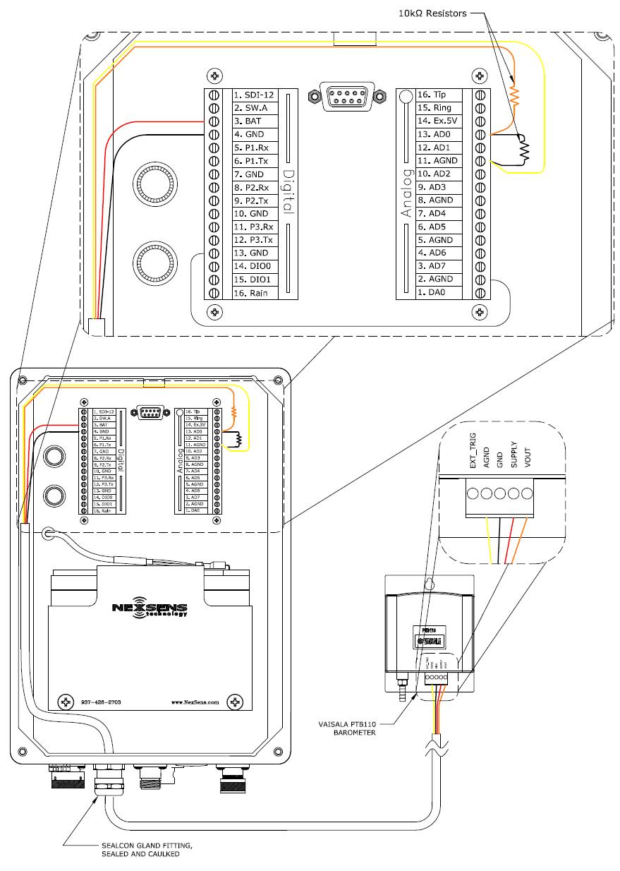 Vaisala PTB110 (With Voltage Divider)