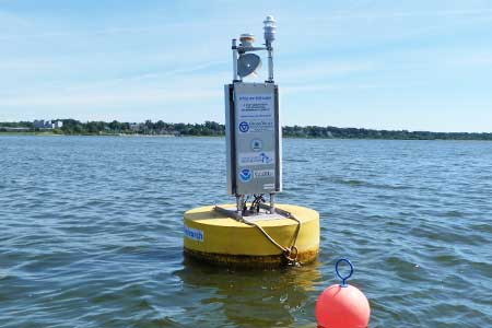 Michigan's Muskegon lake buoy