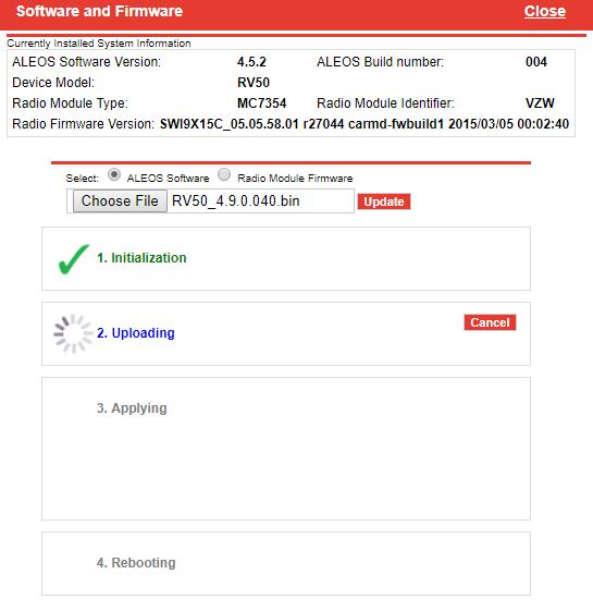 Updating Firmware on an RV50 Modem - NexSens Technology Inc