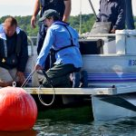 deploying a data buoy safely