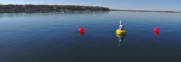 collecting limnological data with lake buoys