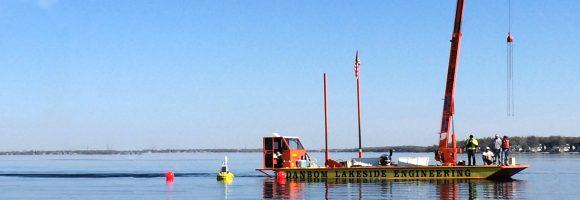turbidity buoy at dredge sites